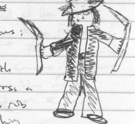 One of my embarassingly terrible drawings from 2005.
