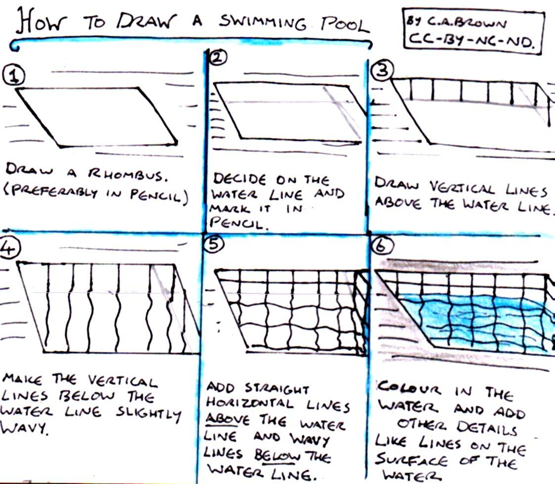 How to draw a swimming pool pekoeblaze the official blog How to draw swimming pool water
