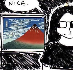 2013 Artwork Hokusai Inspiration sketch