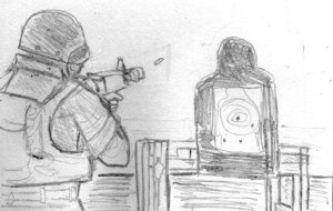 A sketch of the photograph.