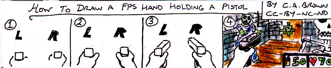 How To Draw A Fps Hand Holding A Pistol Pekoeblaze The Official Blog