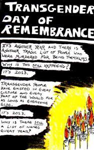 2013 Artwork Transgender Day Of Remembrance 2013