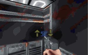 The direction option when you enter the lifts in E1M6.