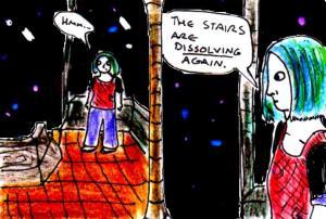 """Comic Concept Art - Dissolving"" By C. A. Brown"