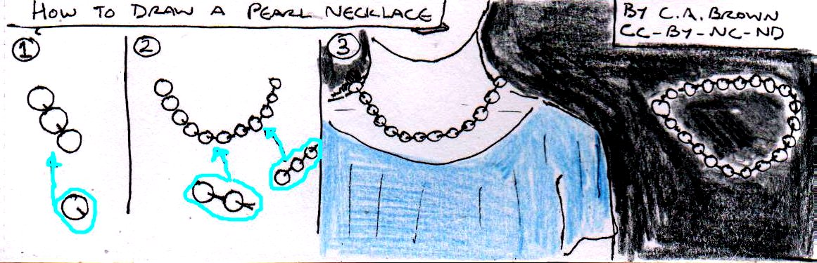 how to draw a pearl necklace