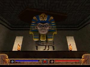 Hmm... I didn't realise that ancient Egyptian pharoahs had blue eyes...