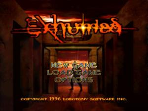 exhumed title screen