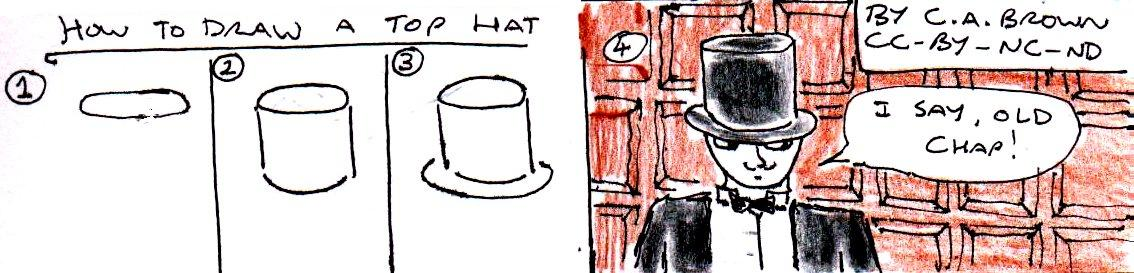 how to draw a top hat