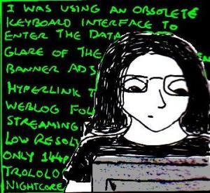 2014 Artwork Cyberpunk Writing Sketch