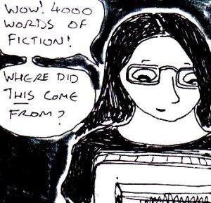 2014 Artwork Spontaneous storytelling sketch