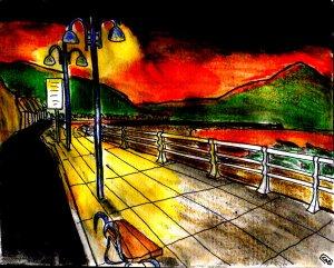 """""""Aberystwyth - Amber Coast"""" By C. A. Brown"""