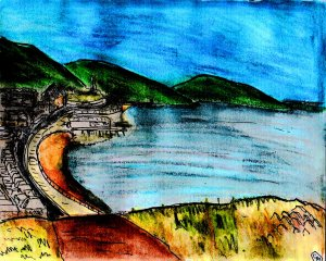 """""""Aberystwyth - From The Hill"""" By C. A. Brown"""