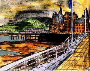 """""""Aberystwyth - Gloom Descends"""" By C. A. Brown"""