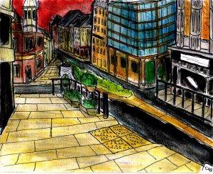"""""""Aberystwyth - High Street 2009"""" By C. A. Brown"""