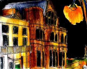 """Aberystwyth - Old College Noir"" By C. A. Brown"