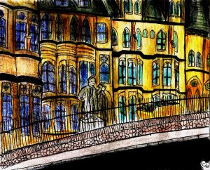 """""""Aberystwyth - Old College (With Skip)"""" By C. A. Brown"""