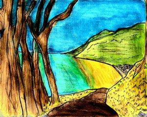 """""""Aberystwyth - Skeleton Trees By Clarach Bay"""" By C. A. Brown"""