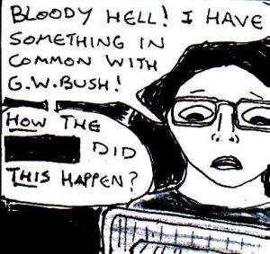 This was pretty much my exact reaction when I learnt that Bush was a painter...