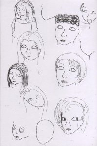 This was when I was trying to work out how to draw the outlines of people's faces in a more realistic way.