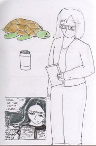 The sketchbook page that contains the little sketch at the beginning of this article.