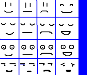 Some basic, easy to draw cartoon faces.