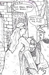 """[Click For Larger Image] """"Apologies To Leighton (Lineart)"""" By C. A. Brown"""