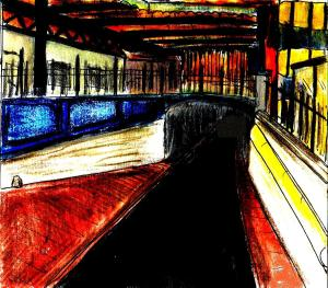 """Brighton - Sunset Station"" By C. A. Brown"