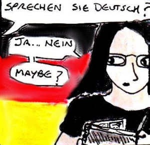 2014 Artwork Comic Composition German article sketch