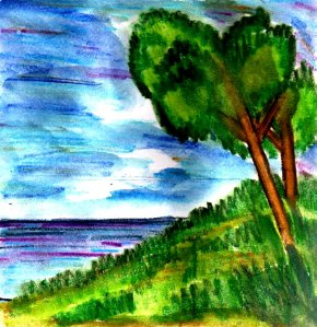 """Tree By The Sea"" By C. A. Brown"