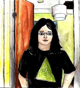 """""""Self-Portrait By The Kitchen Door"""" By C. A. Brown"""