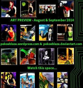 "[CLICK FOR LARGER IMAGE] ""Art preview gallery - August and September 2014"" By C. A. Brown"