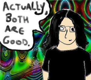 Or they would be if I was half as good with a graphics tablet as I am with a pen. Still, I can't make trippy rendered backgrounds using pencils.....