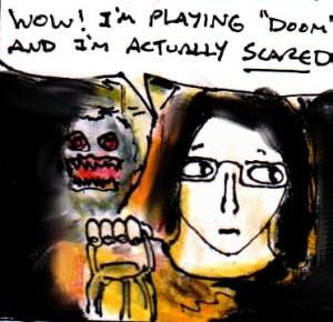 2014 Artwork Doom Lasting Light Review Sketch