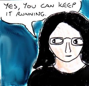 2014 Artwork Keep Webcomic Running Sketch