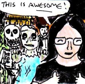 2014 Artwork Non-Scary Horror article sketch