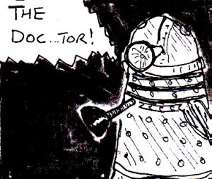 2014 Artwork Doctor Who Into The Dalek Review Sketch