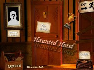 Haunted hotel title screen