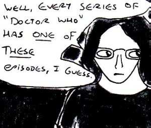 2014 Artwork Doctor Who listen review sketch