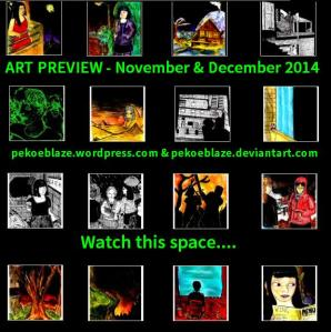 """[CLICK FOR LARGER IMAGE] """"Art Preview - November & December 2014"""" by C. A. Brown"""