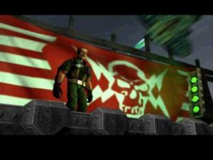 Shock horror! This elderly version of Duke Nukem is actually the VILLAIN!