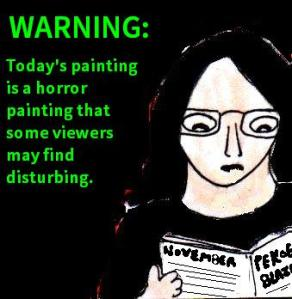 Yes, it's a content warning. The actual painting can be found at the bottom of this post.