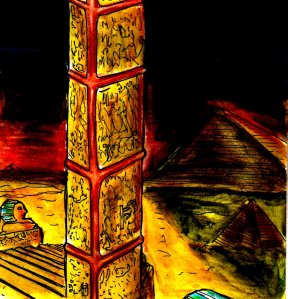 """""""Valley Of The Lost Pyramids"""" By C. A. Brown"""