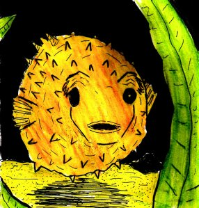 """""""Puffer Fish"""" By C. A. Brown"""