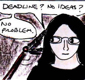 2015 Artwork Deadline Writer's Block Sketch