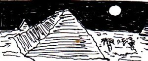 (This is a tiny picture of a pyramid that I drew in November 2014. From the crumb in the middle of the picture, I was probably eating a chocolate bar at the time)