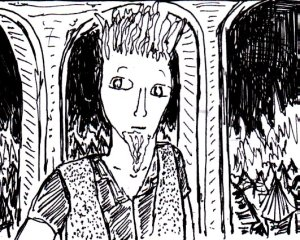(This is a fairly surreal and vaguely Clive Barker-like sketch that I made in November 2014.)
