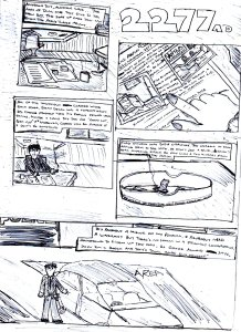 I drew this sometime during Christmas 2008 and it was supposed to be the beginning of another prequel comic. But, I got writer's block very quickly, so this is pretty much all of it.