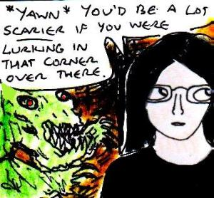 2015 Artwork Everything but the monster is scary article sketch