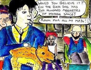 """Fan Art - Cowboy Bebop - Data Dog"" By C. A. Brown"