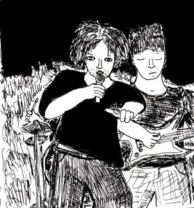 """""""Untitled Punk Drawing 18/1/15 (original version)"""" By C. A. Brown"""